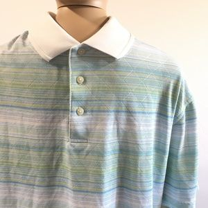 Pastel Polo Golf Shirt Sz Xl PGA Tour Short Sleeve